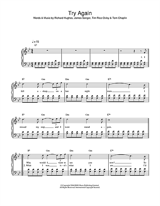 Try Again Sheet Music