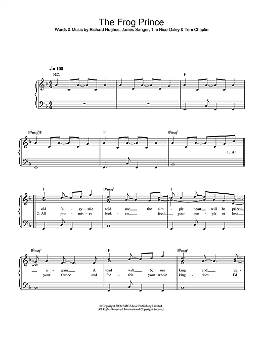 The Frog Prince Sheet Music