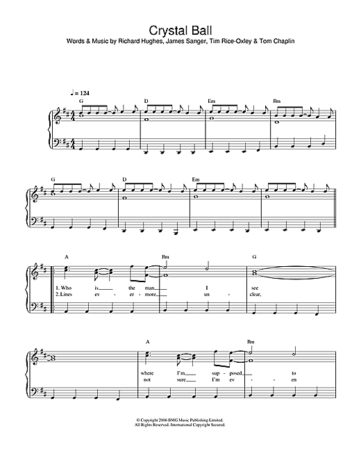 Crystal Ball Sheet Music