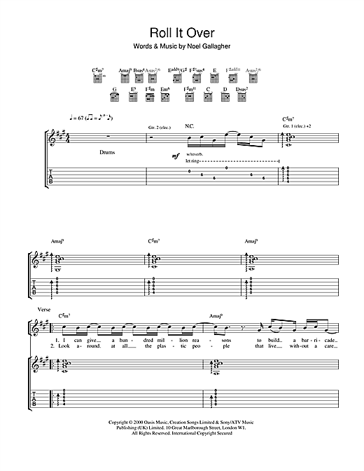 Roll It Over Sheet Music