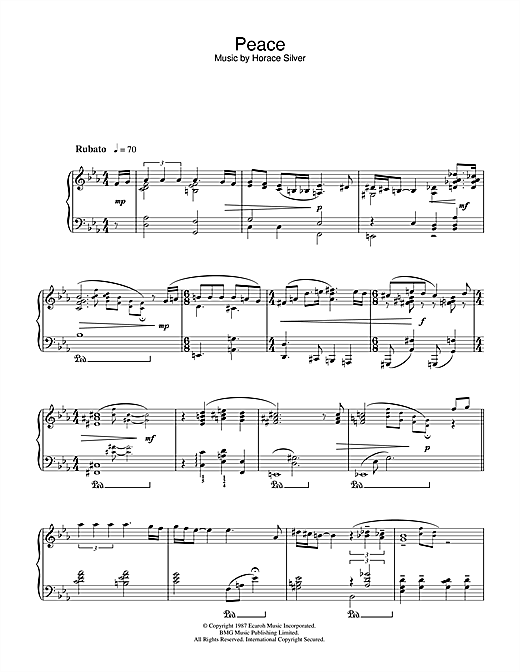 Peace Sheet Music