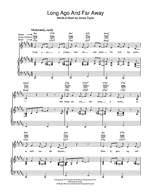 Long Ago And Far Away Sheet Music