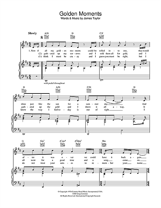 Golden Moments Sheet Music