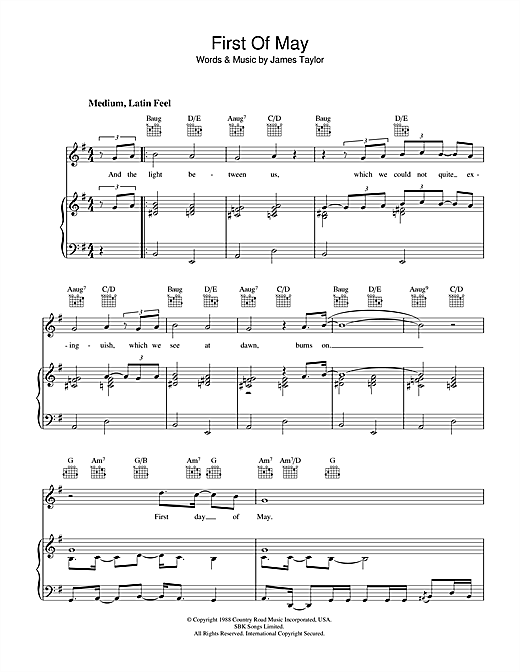 First Of May Sheet Music