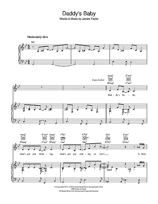 Daddy's Baby Sheet Music