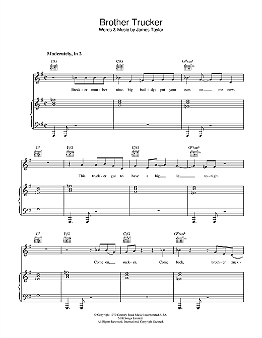 Brother Trucker Sheet Music
