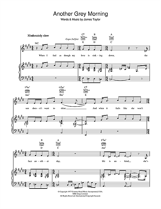 Another Grey Morning Sheet Music