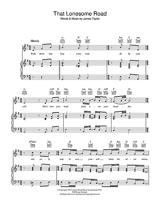 That Lonesome Road Sheet Music