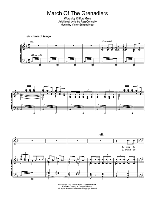 March Of The Grenadiers Sheet Music