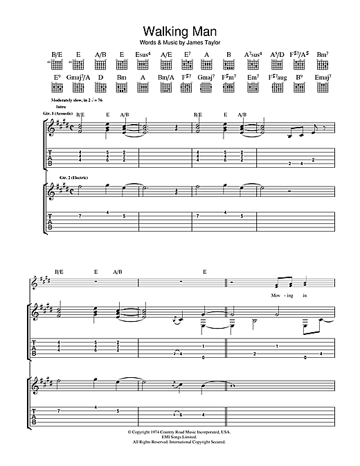 Walking Man Sheet Music
