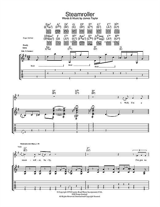 Steam Roller Sheet Music