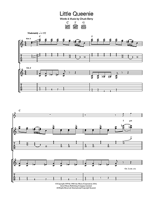 Little Queenie Sheet Music