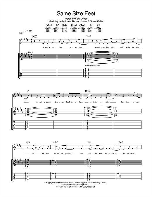 Same Size Feet Sheet Music