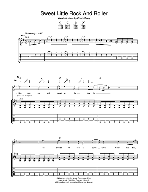 Sweet Little Rock And Roller Sheet Music