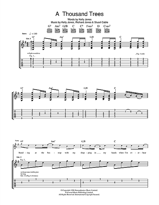 A Thousand Trees Sheet Music