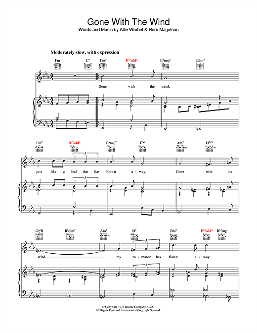Gone With The Wind Sheet Music