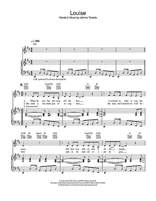 Louise Sheet Music