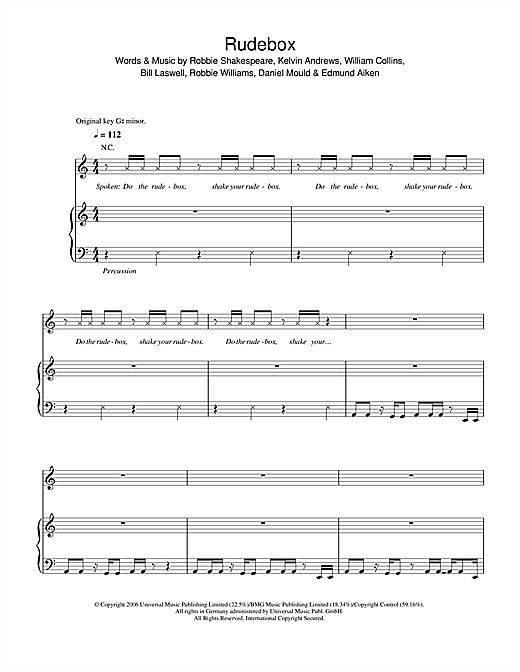 Rudebox Sheet Music