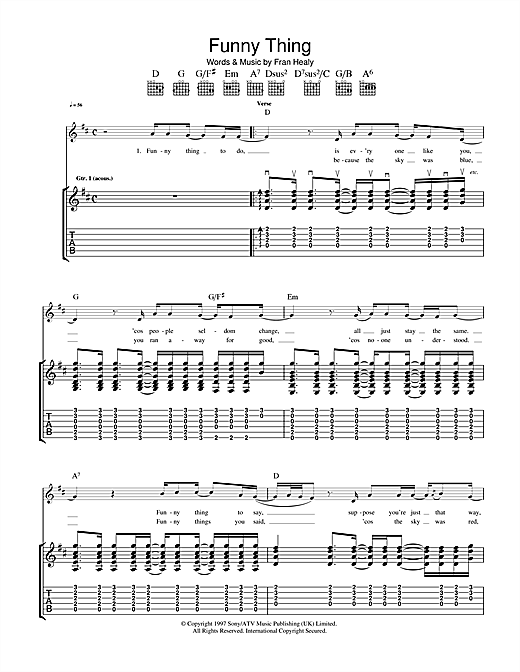 Funny Thing Sheet Music