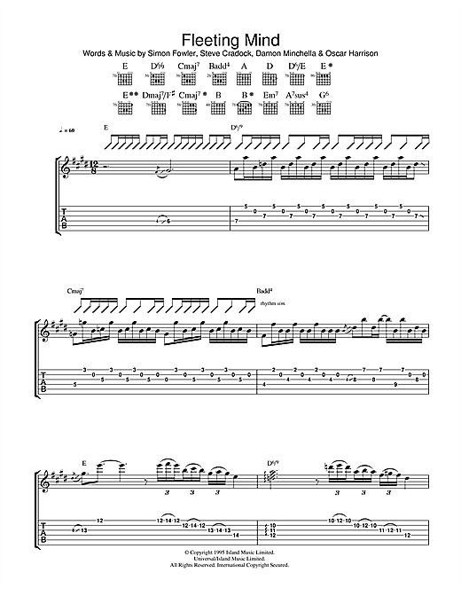 Fleeting Mind Sheet Music