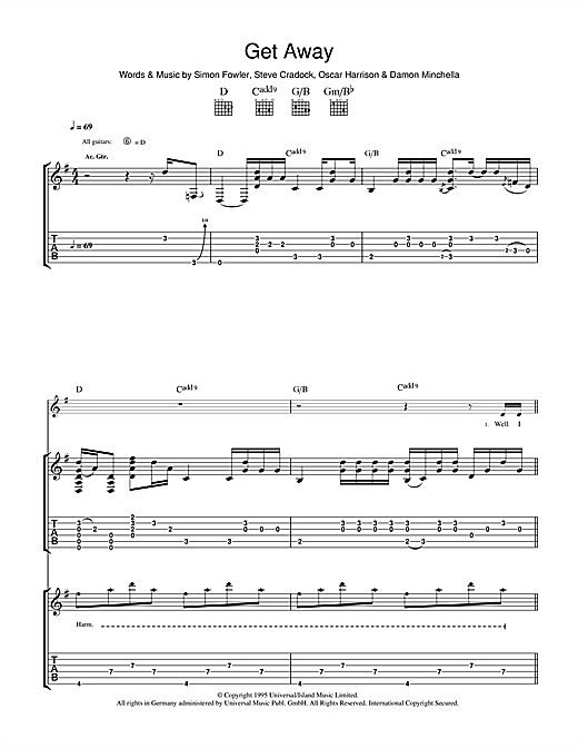 Get Away Sheet Music