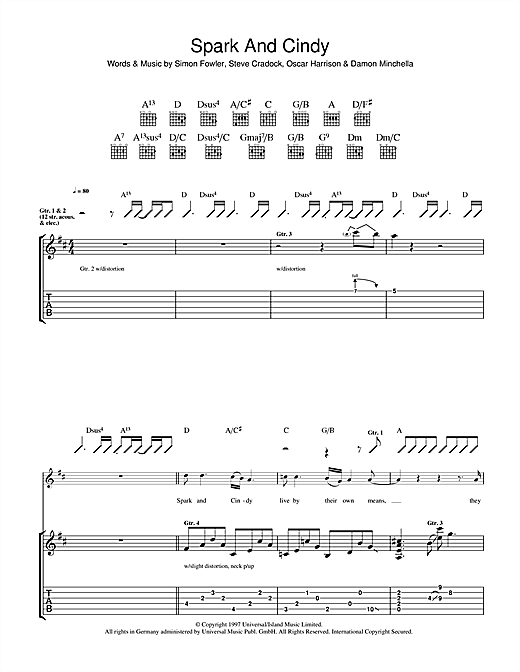 Spark And Cindy Sheet Music