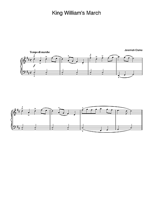 King William's March (Beginner Piano)