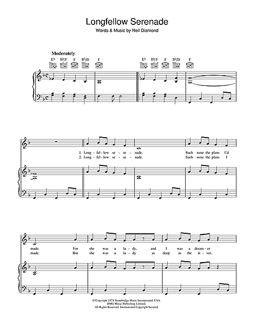 Longfellow Serenade Sheet Music