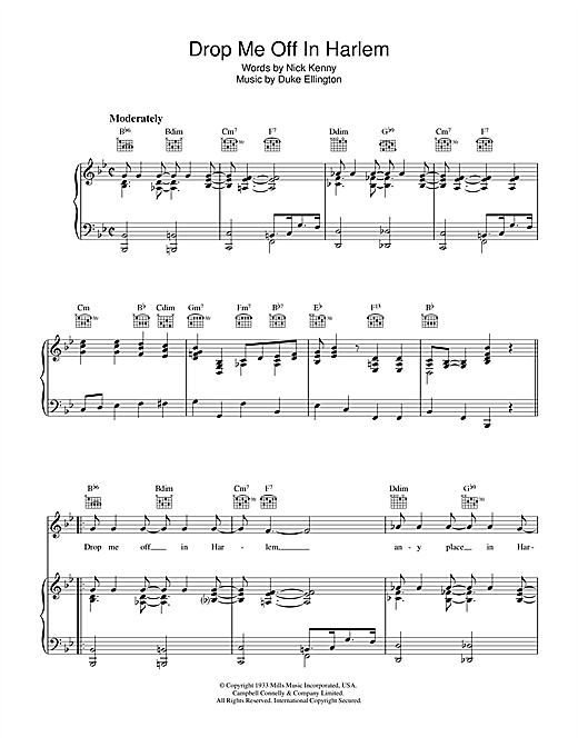 Drop Me Off In Harlem Sheet Music