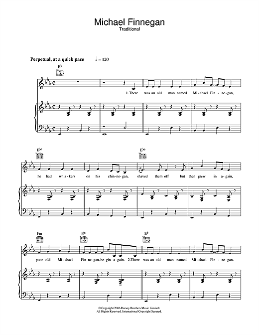 Michael Finnegan Sheet Music