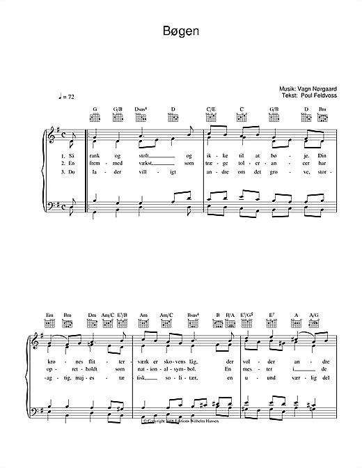 Bøgen Sheet Music