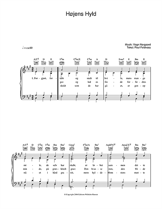 Højens Hyld Sheet Music