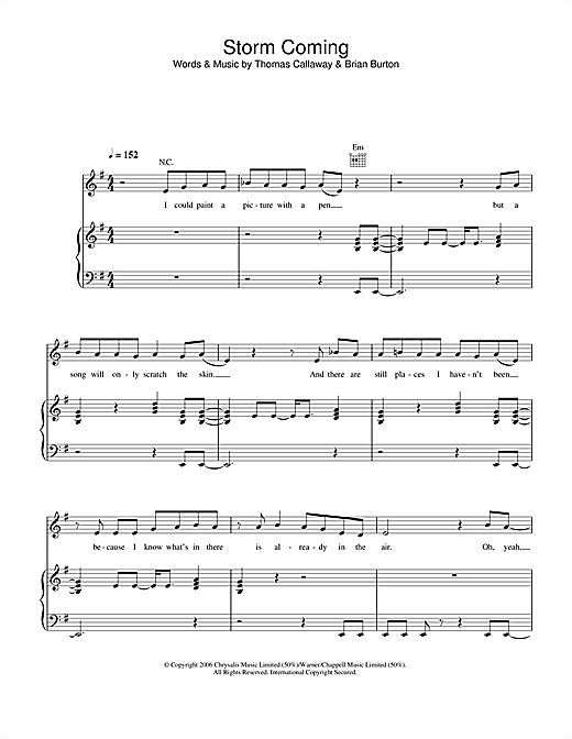 Storm Coming Sheet Music
