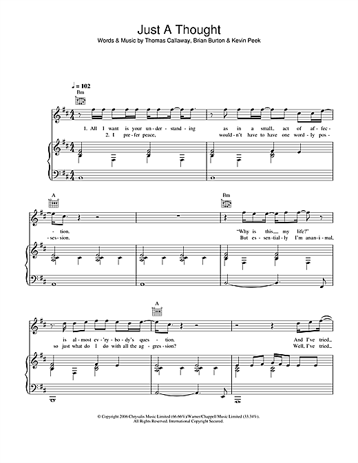 Just A Thought Sheet Music