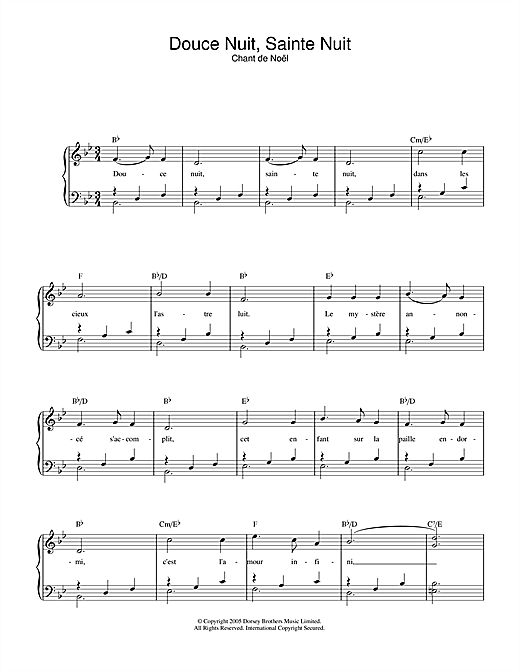 Douce Nuit, Sainte Nuit Sheet Music