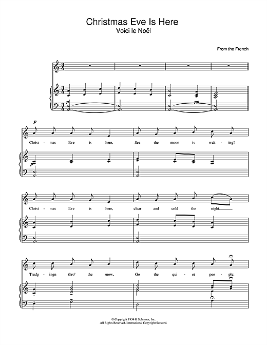 Christmas Eve Is Here Sheet Music