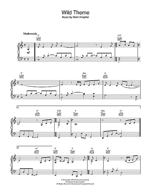 Wild Theme (from Local Hero) Sheet Music