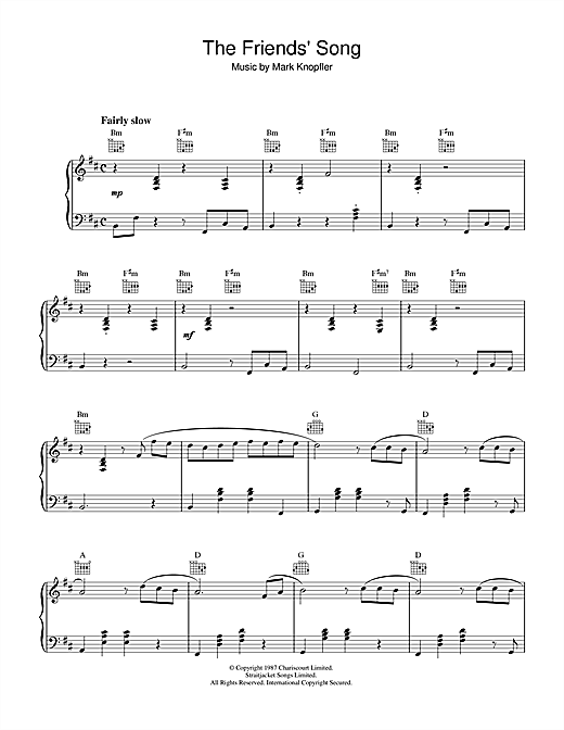 The Friends' Song (from The Princess Bride) Sheet Music