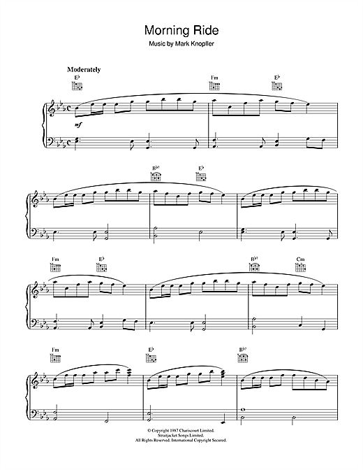 Morning Ride (from The Princess Bride) Sheet Music