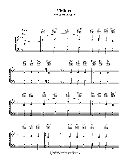 Victims (from Last Exit To Brooklyn) Sheet Music