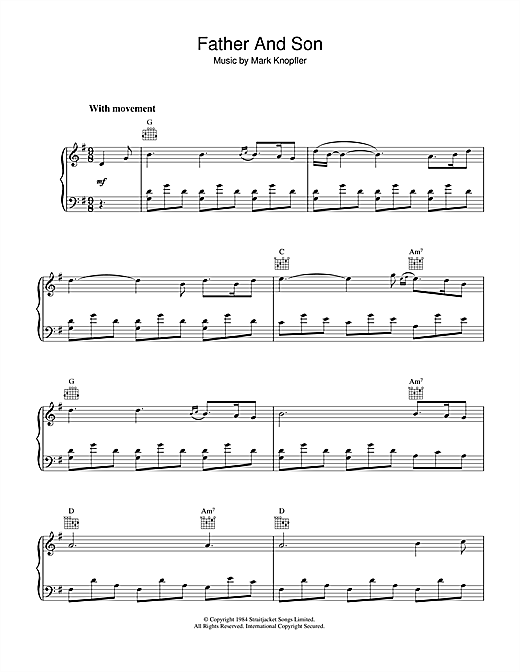 Father And Son (from Cal) Sheet Music