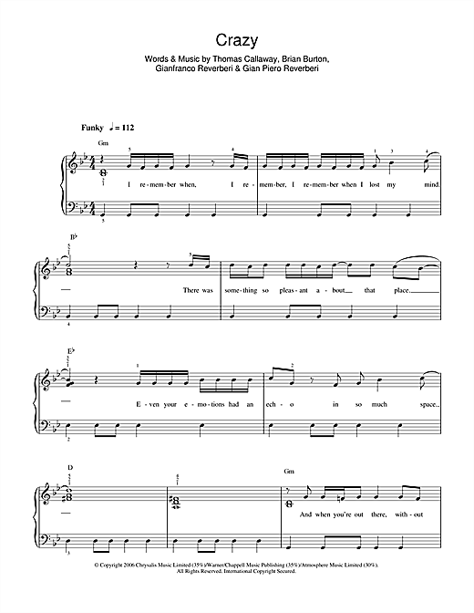 Crazy Sheet Music
