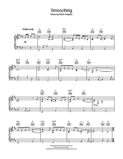 Smooching (from Local Hero) Sheet Music