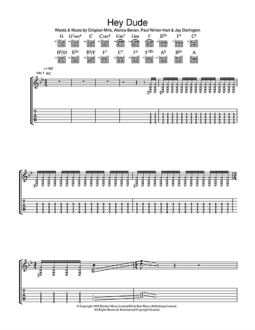 Hey Dude (Guitar Tab)