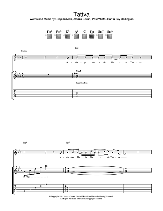 Tattva Sheet Music