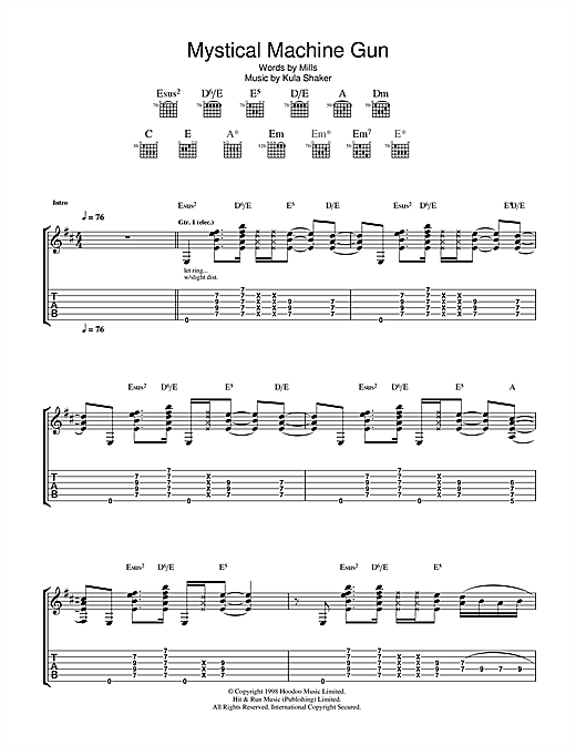 Mystical Machine Gun Sheet Music