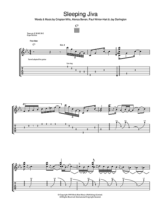 Sleeping Jiva Sheet Music