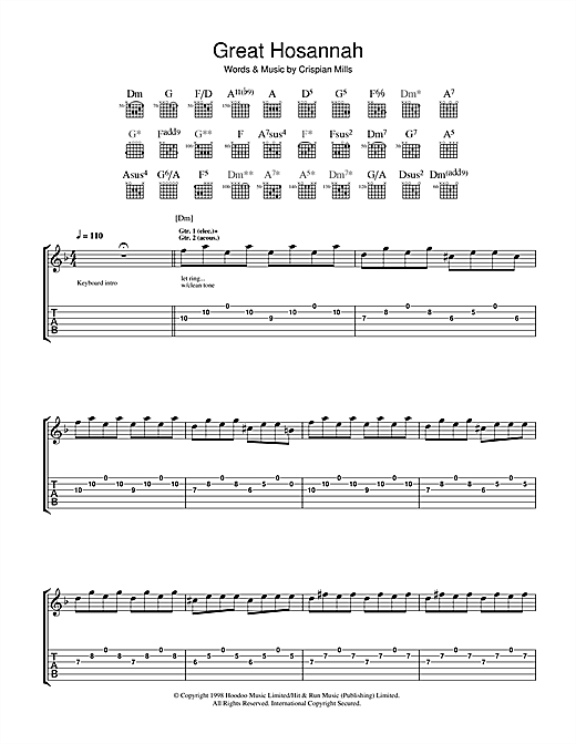 Great Hosannah Sheet Music