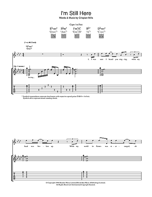 I'm Still Here Sheet Music
