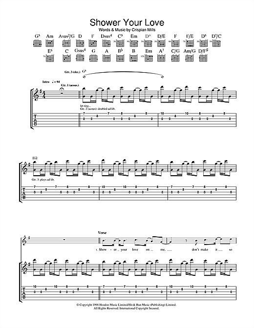 Shower Your Love Sheet Music